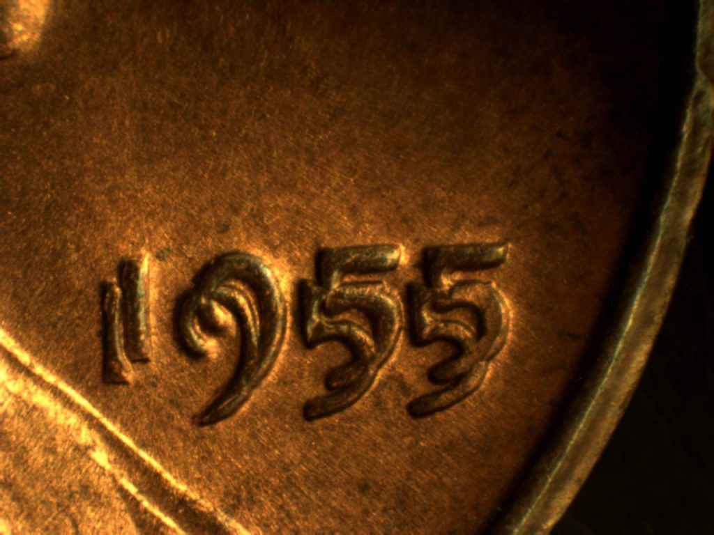 An excellent specimen of a 1955 doubled die obverse we had the privilege to examine.