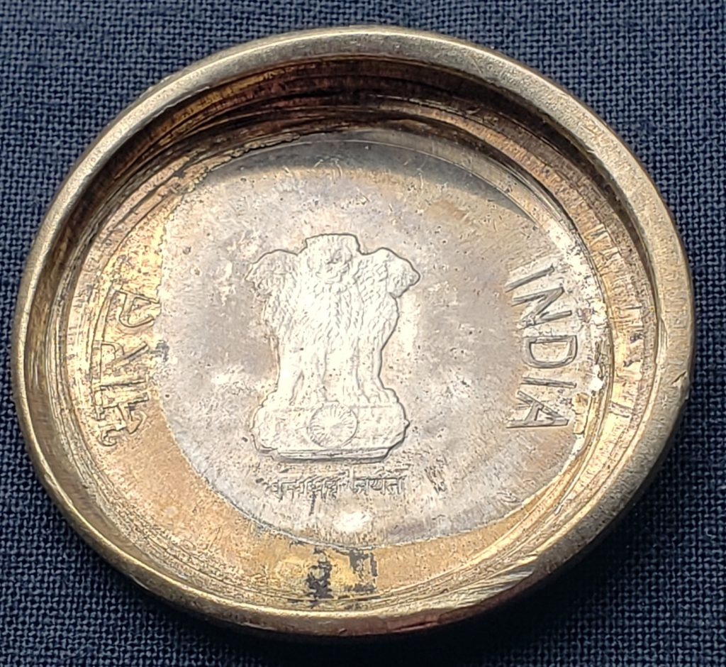 Obverse of a Massive Dramatic Eye Appealing Die Cap from India