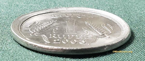 2003 1 Rupee Die Cap Major Mint Error Coin