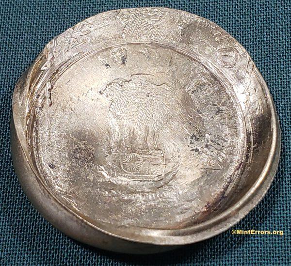 No Date 5 Rupees Die Cap Major Mint Error Coin