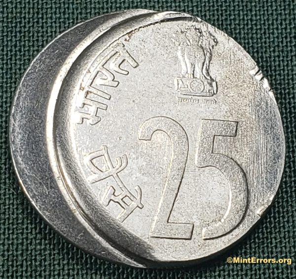 2002 India 25 Paise Die Cap Major Mint Error Coin
