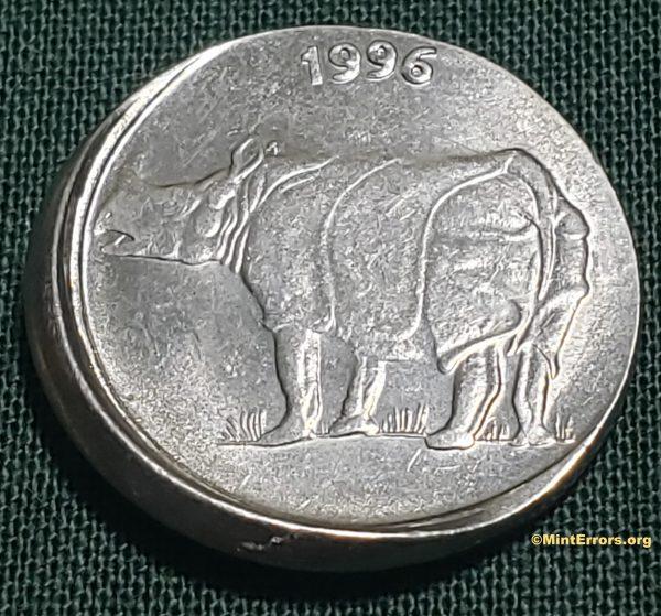 1996 India 25 Paise Die Cap Major Mint Error Coin