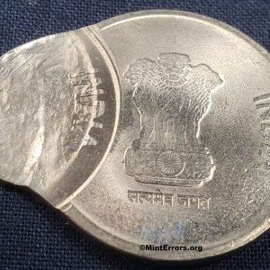 Multiple struck major mint error coin, 2020 India 5 Rupees