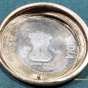 No Date 10 Rupees Die Cap Major Mint Error Coin