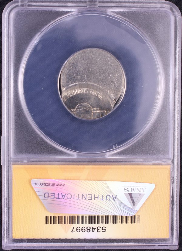 Off Center Coin - The reverse of a 1999-D Jefferson OC 70 ANACS MS65 5348997