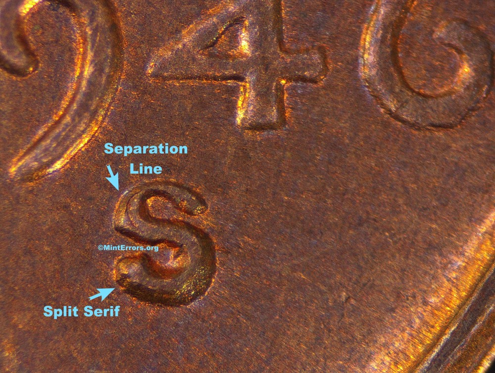 Lincoln Cent Re-punched mint marks
