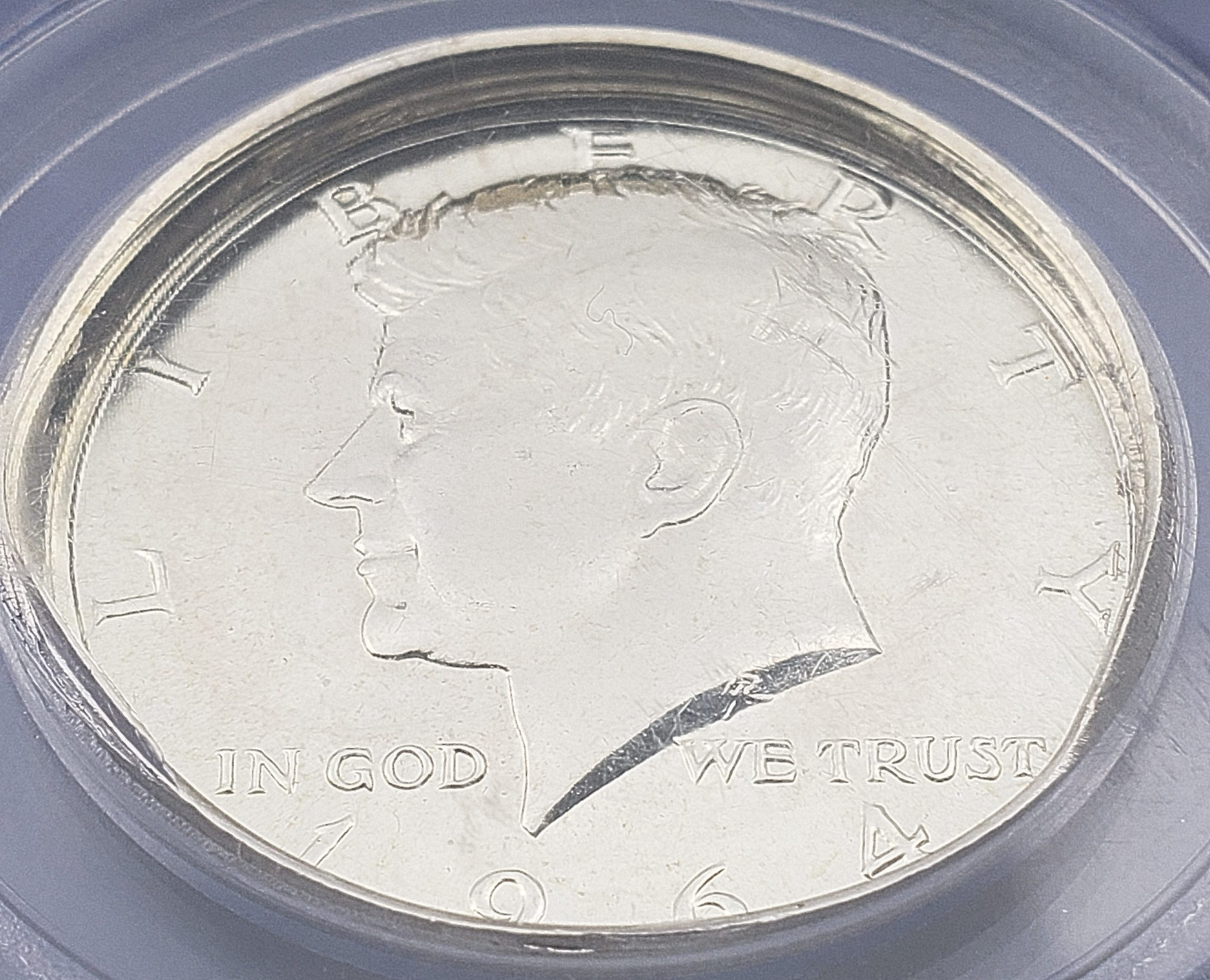 Amazing 1964 Kennedy Deep Die Cap major mint error coin!